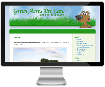 Green Acres Pet Care website