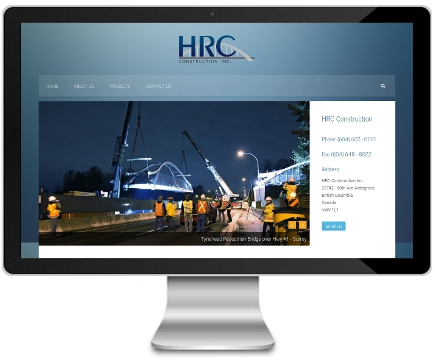 HRC Construction website - After