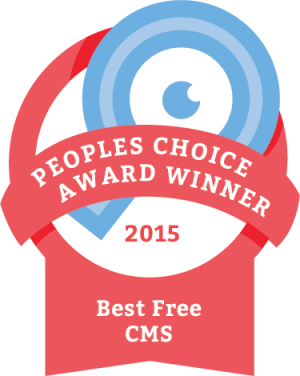 Joomla receives 2015 Best Free CMS Award