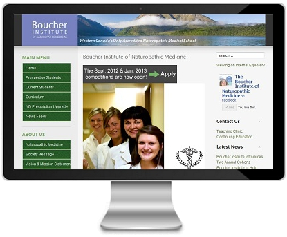 Boucher Institute Website