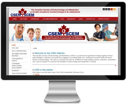 Canadian Society of Endocrinology and Metabolism website