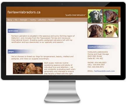 Fairlawn Labradors website