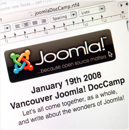 January 19th Joomla! DocCamp