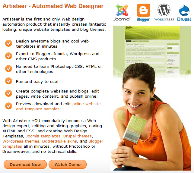 Artisteer Automated Web Designer Langley Joomla Website Design Jentekk